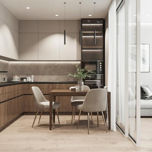 Дизайн трехкомнатной квартиры (м. Крестьянская Застава)